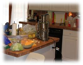 Juicing counter